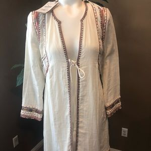 Nwt  size small zara cover sweater embroidery!